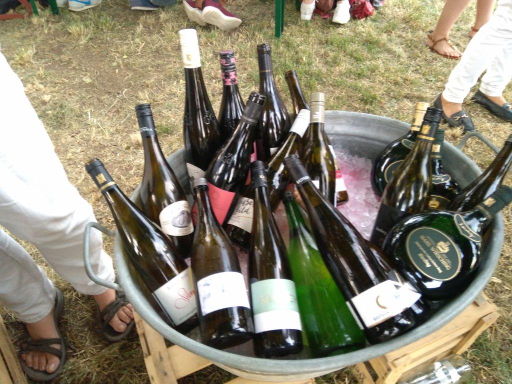 Flaschenbad in Zink