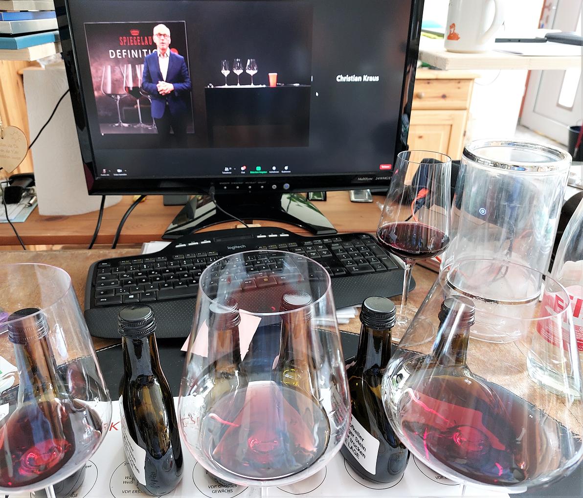 Meine Teilnahme an der Online-Weinverkostung mit Spiegelau-Definition-Gläsern.